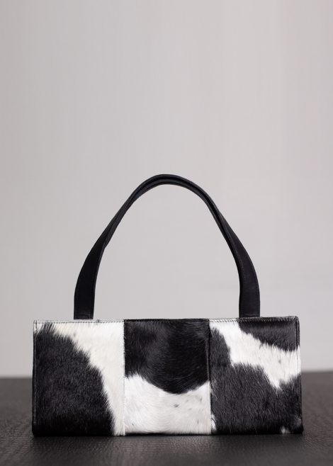 Black And White Nguni Hide Clutch 1
