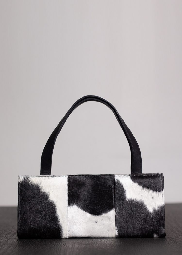 Black and White Nguni Hide Clutch