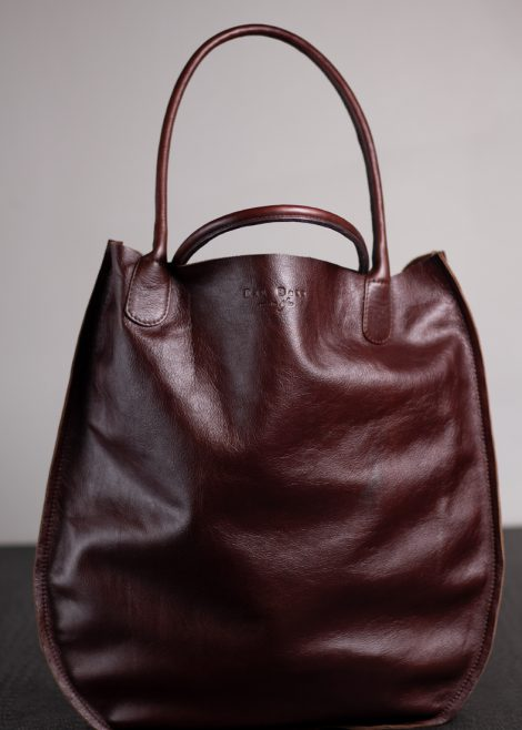 Brown Leather Shopper 1