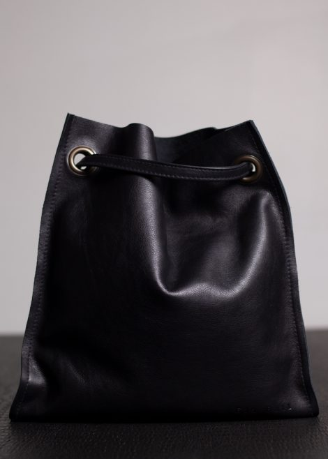 Black Leather Manbag